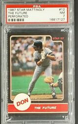 1987 Star #12 Don Mattingly Perforated The Future PSA 7 *Only 12 Graded Higher* $37.99