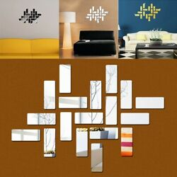 18pcs Acrylic 3D Mirror Wall Stickers Mirror Wall Stickers Home Stickers New C $12.31