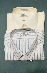 Vintage Sears Size Tailored Short Sleeve Buttonup Dress Shirts size 17 XL Lot $24.99