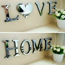 English Letters Home Mirror Wall Sticker Logo Removable Party Decoration Supply C $14.14