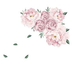 Wall Stickers for Bedroom Flower Wall Decals for Living Room Girls Bedroom for $10.64