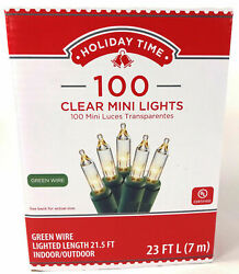 Holiday Time 100 CLEAR MINI LIGHTS CHRISTMAS WEDDING INDOOR OUTDOOR $7.99