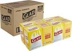 Glad Tall Kitchen Handle Tie Trash Bags 13 Gallon White Trash Bag 50 Count $43.19