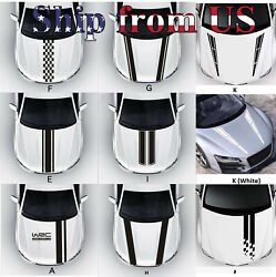 Racing Hood Stripes Decal Vinyl Stickers for Car SUV Truck Universal Fit $12.99