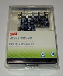 Staples USB 2.0 5 Port PCI Card *SEALED* *FREE SHIPPING* $13.50