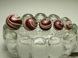 5 Harry Boyer Signed Handmade marbles swirl with gold lutz $85.00
