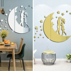 Creative Wall Stickers Decals Decoration Home Mirror Moon Room Acrylic C $13.53