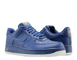New Nike Men#x27;s Air Force 1 #x27;07 Deep Royal Blue Shoes AA4083 402 Mens Size 10 $124.99