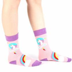 Denlix Women Novelty Fun Socks Funny Crew Socks Casual Socks for Girls Unicorn $15.00