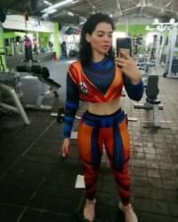 Dragon Ball Women Suit Vegeta Goku Leggins Joggers sport bra tank top