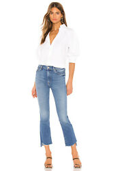 NWT Mother Denim Insider Crop Step Fray Hey Sun Size 24 25 26 27 $238 $189.99