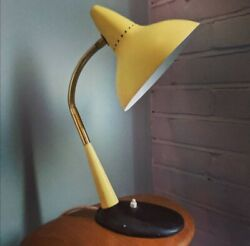 1950s Vintage Desk Lamp yellow metal Cosack Louis Kalff Rare GBP 295.00