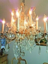 large vintage formal crystal chandelier antique $350.00
