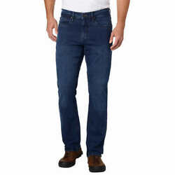 Urban Star Men#x27;s Relaxed Fit Jean Blue 5 Pocket 2 way Stretch Straight Leg Relax $24.87