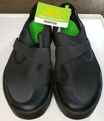 OOFOS Oomg Fibre Low Mens 12 Black Walking Recovery Loafers Shoes $64.99