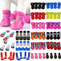 USA Waterproof Rain Snow Puppy Dog Shoes Boots Booties High Rubber For SMALL Pet $8.09