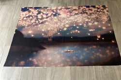 tapestry wall hanging large Floating Lights. 58.5 X 50 Inches $14.00