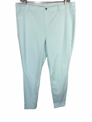 Legacy Women#x27;s Soho Stretch Petite Twill Pull on Leggings Pant Mint P1X Size $16.50