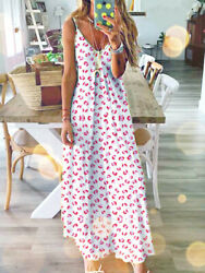 Women Ladies Long Maxi Dress Boho Holiday Beach Summer Party Floral Sundress $12.99