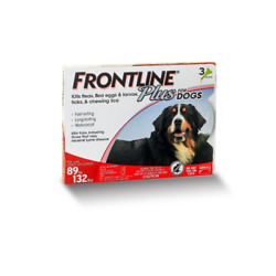 FRONTLINE Plus for Extra Large Dogs 89 132 lbs Flea and Tick Treatment 3 Dose $21.99