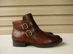 Born Womens boots ankle Brown leather Size 9.5 M $29.90