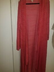 Plus sz 4x long cover up red $15.00
