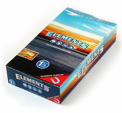 1 box ELEMENTS 1 1 4 Size ULTRA THIN RICE rolling paper with MAGNETIC CLOSURE $22.99