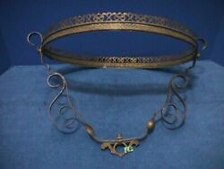 Antique HANGING Oil Lamp FRAME Ornate BRASS Victorian Ceiling Parlor Library 6F $49.00