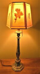 E F Caldwell Cold Painted Boudoir Table Lamp amp; Antique Shade. Offers?? $345.00