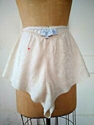 VINTAGE #x27;SHADES of SILK#x27; IVORY PANTIES size L NEW $5.55