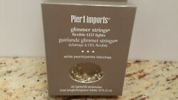 Pier 1 Imports Glimmer Strings Flexible LED Lights White Pearls 30 Lights 10 Ft.