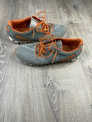 On Cloud Mens Gray Orange Running Shoes Size 12 Mens $39.95