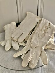 Vintage Glove Assortment Lot of 3 Opera Leather made in Italy Shalimar Dainty $15.00