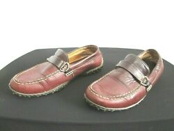 Born Burgundy Brown Leather Driving Moccasin Loafers Shoes Women Sz 8M W $13.99