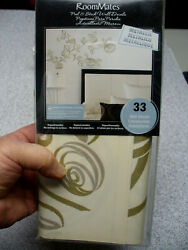 RoomMates Peel and Stick Wall Decals BEDROOM WALL WHITE amp; GOLD $5.99
