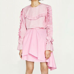 Zara Candy Pink Ruffled Top Skirt Set Sz. 6 $30.00