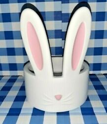 Bath And Body Works Bunny Rabbit Ears 2021 Easter 3 Wick Candle Ceramic Holder $56.75