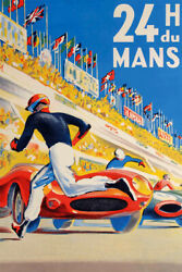 24 Hours of Le Mans 1954 Vintage French Race Art Wall Room Poster POSTER 24x36 $18.99