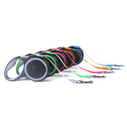 Medium Retractable Dog Leash 16 Long Up To 44 Lbs Reflective Colored Belt 16 Ft $17.95