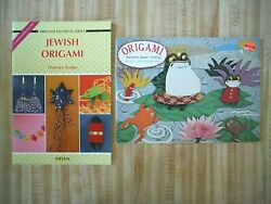 2 Origami books Japanese Paper Folding Activity Book and Jewish Origami book $8.71