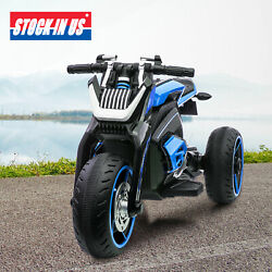 12V Kids Ride On Motorcycle Three wheeled Electric Toy Bike Car with Mp3 Horns $138.99