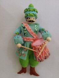 12 Days of Christmas Hand made 9th day of Christmas 9 drummers drumming ornament $19.99