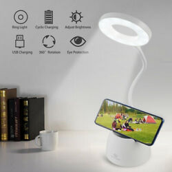 Rechargeable 18 LED Desk Light Bedside Reading Lamp Dimmable Table Flexible $11.99