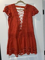 Free People XS Orange dress