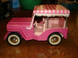 TONKA TOY USA PINK JEEP 1962 ELVIS METAL COLLECTIBLE NO TIRE VERY NICE $179.75