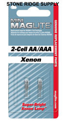 2 Pack Maglite LM2A001 Xenon 2 cell AA AAA Mini Bulb Replacement Lamp Genuine $14.98