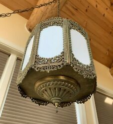 Antique Vintage Chandelier Moroccan Style Swag Lamp GIM 3058 $382.50