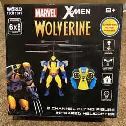 World Tech Toys Wolverine X Men 2CH IR RC Marvel Helicopter with Remote Control $23.99