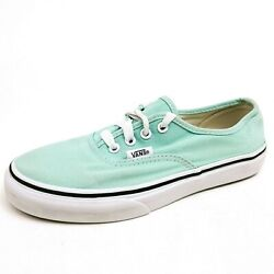 Vans Classic Off The Wall Girls Size 2.5 Shoes Mint Green Canvas Low Top Skater $16.50