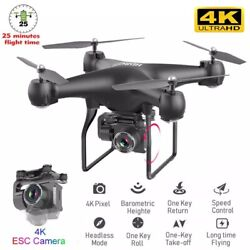 4k HD Wide Angle Camera 2021 New RC Drone WIFI Drone Camera Headless Quadcopter $90.84